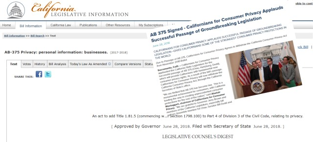 DPOs – Don't forget the California Consumer Privacy Act!